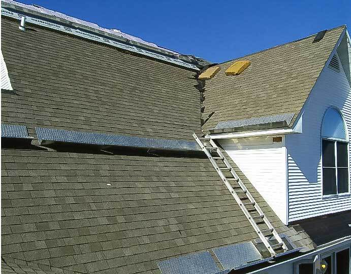 setup for tearing off shingles