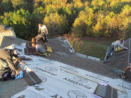 Barnes Roof Safety - Workers on a roof